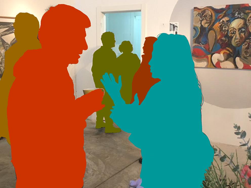 קהל בגלריה