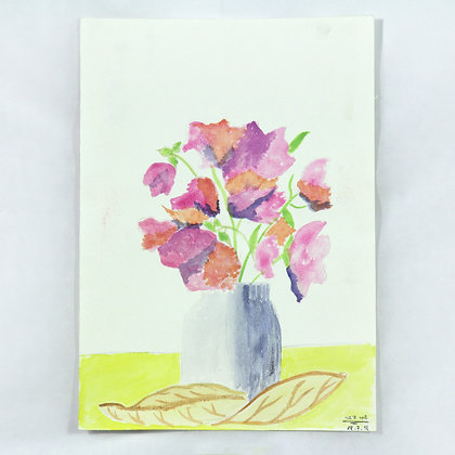 הפרחים הורודים