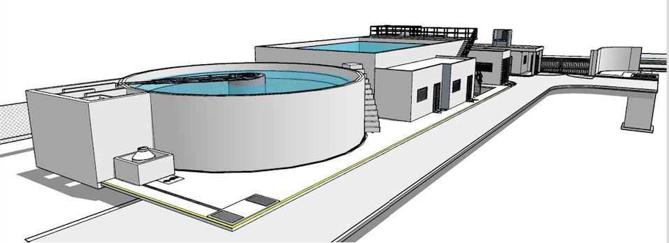 Render sedimentadores circulares