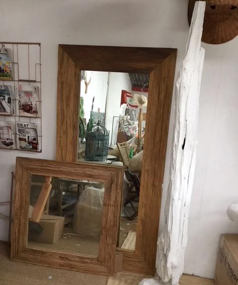 Miroir vieux teck