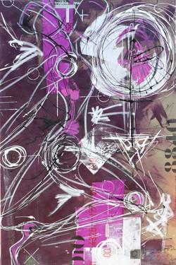 Toile lin purple