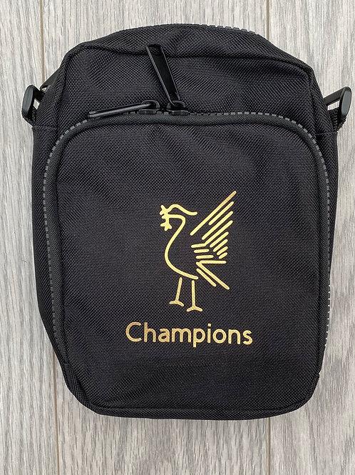 Crossbody multi pocket Liver Bird Champions bag
