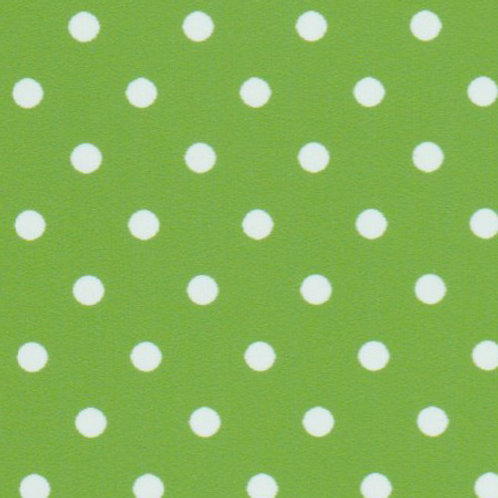 White Dots on Apple Green Fabric – Print #2259