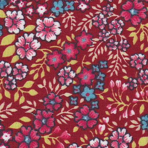 Red, Blue and Yellow Floral  –  #2322