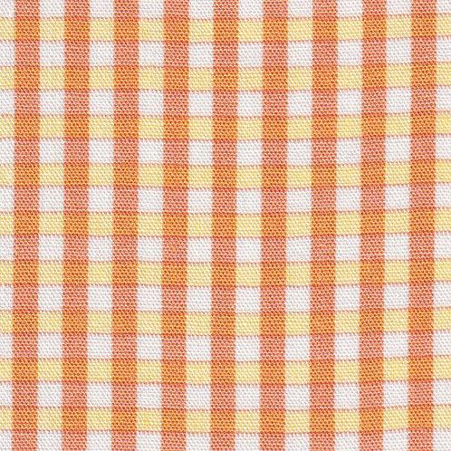 Orange, Yellow and White Plaid Fabric – P–64