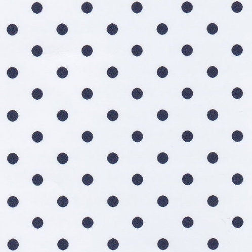 Navy Dots on White Fabric – Print #2181