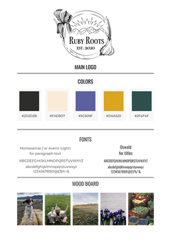 Ruby Roots Farm Brand Kit