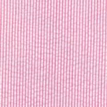 Mini Striped Seersucker Fabric - Raspberry