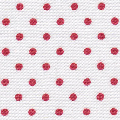 Red Dots on White Fabric – Print #2175