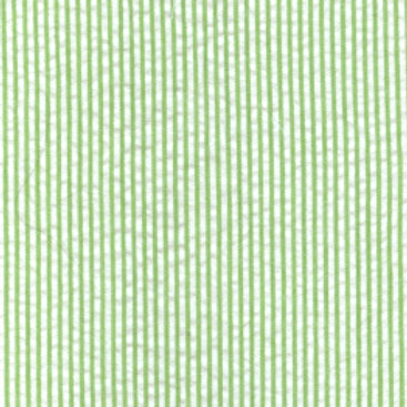 Mini Striped Seersucker Fabric - Green