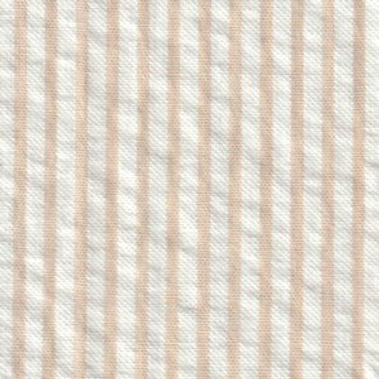 Striped Seersucker Fabric - British Tan