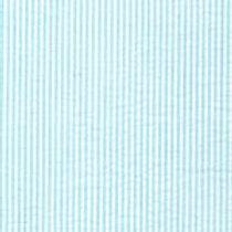 Mini Striped Seersucker Fabric - Aqua Blue
