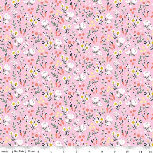 Easter Egg Hunt Floral Pink by Riley Blake Designs