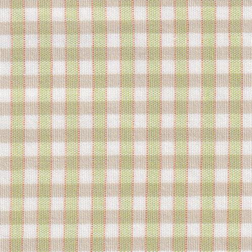 Lime, Orange and White Plaid Fabric – P–62