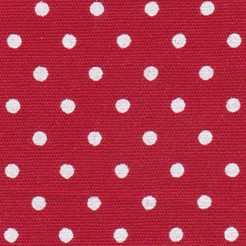 White Dots on Red Fabric – Print #2176