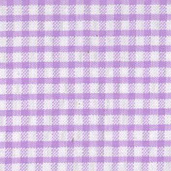 Seersucker Check Fabric - Lavendar