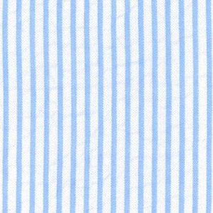 Striped Seersucker Fabric - Blue