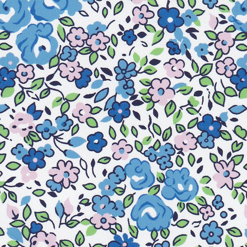 Blue and Pink Floral Fabric – Print #2373