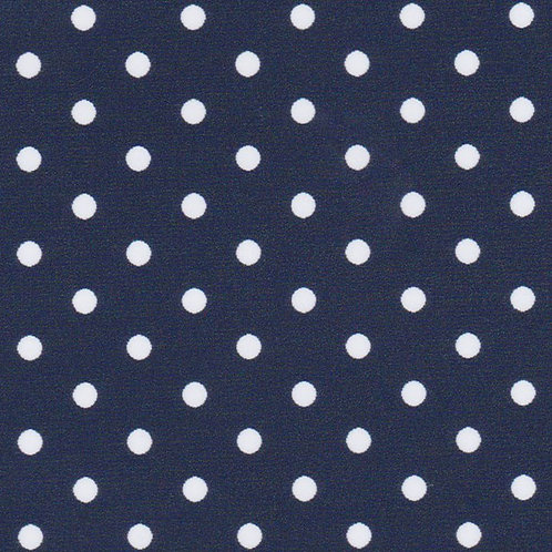 White Dots on Navy Fabric – Print #2182