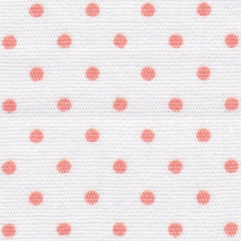 Coral Dots on White Fabric – Print #2171
