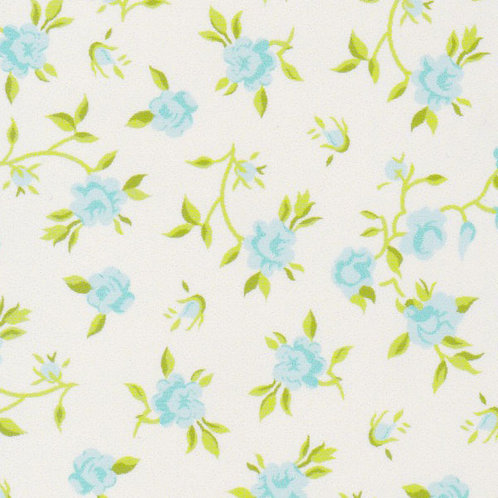 Blue and Green Floral Fabric – Print #2206