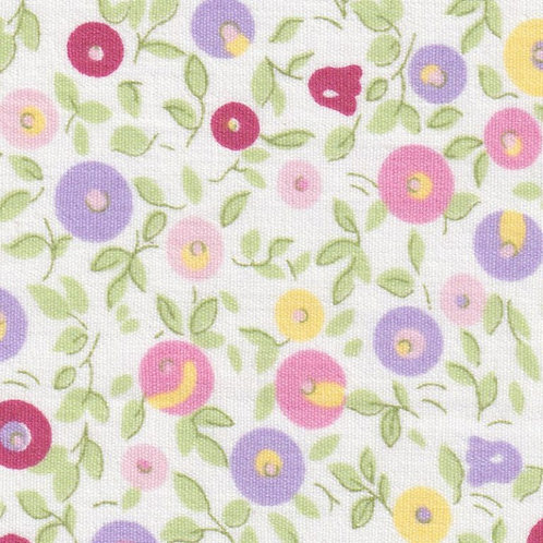 Pink and Lavender Floral Fabric - Print #2343