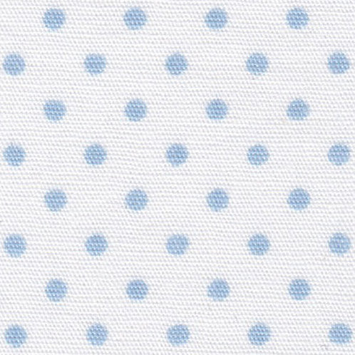 Blue Dots on White Fabric – Print #2161