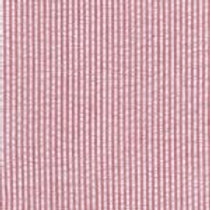 Mini Striped Seersucker Fabric - Red
