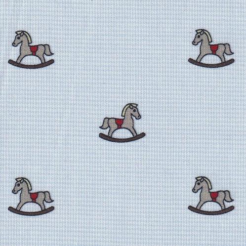 Rocking Horse Fabric- Blue Micro Check Fabric – Print #2403