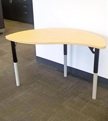 MityBilt Pin Adjustable Height Curved Desk