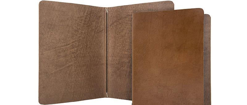 真皮鬆緊帶餐牌(書本型) Real Leather Paper Only Menu (Booklet)