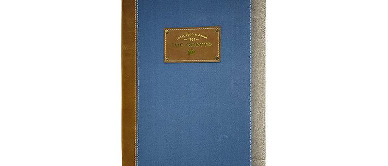 布製上下帶餐牌 Horizontal Bar Fabric Menu Booklet