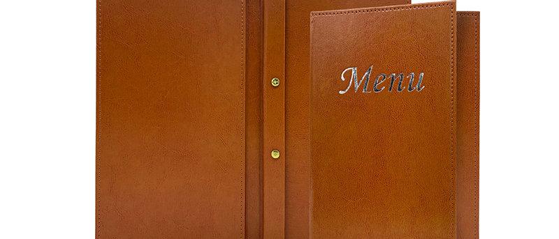 皮製內鎖釘餐牌 Interior Screwfix Leather Menu