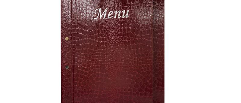 鰐魚紋外鎖釘餐牌Crocodile Style Exterior Screwfix Menu