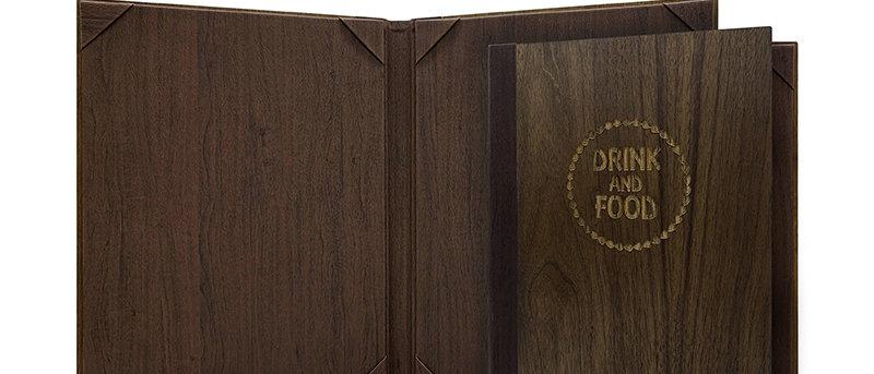 內相角木製餐牌(書本型) Fixed Interior Wooden Booklet