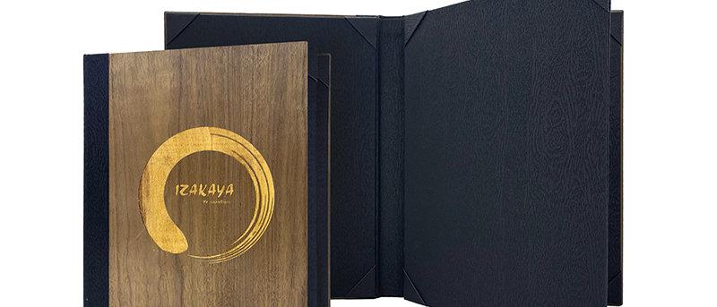 內相角木製餐牌(書本型) Fixed Interior WoodenBooklet