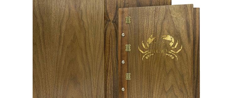 全木鎖釘餐牌 Screwfix Wooden Booklet