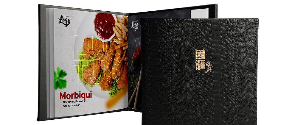 皮製餐牌款式二(書本型) Leather Menu(Booklet)