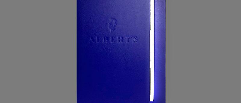 兩頁兩面發光餐牌 LED Menu Cover 2 Panel 2 Light View