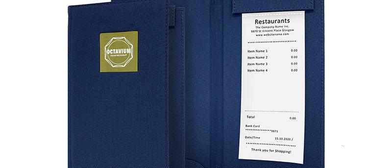 布製磁石夾收銀夾款式二(書本型) Magnetic Clip Fabric Bill Folder Booklet Type 2