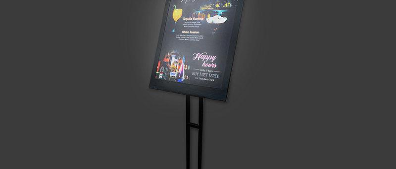發光餐牌展示板連架 LED Display Board With Stand (一套五本5 Pcs in 1 Set)