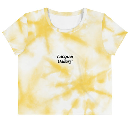 SYLGG Crop Tee - Yellow Tie Dye