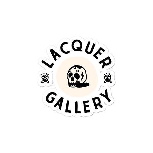 Lacquer Gallery Skull Sticker