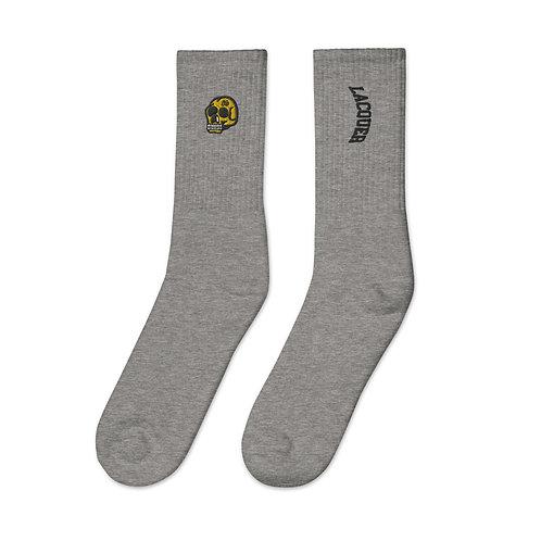 Lacquer Skull Socks