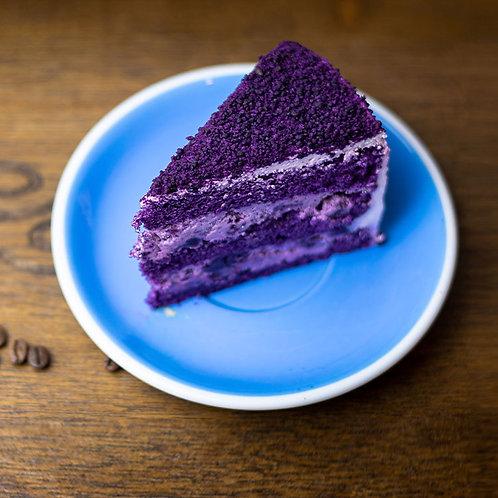 Ube Cake Slice