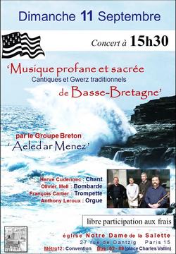 Affiche concert 11 Septembre