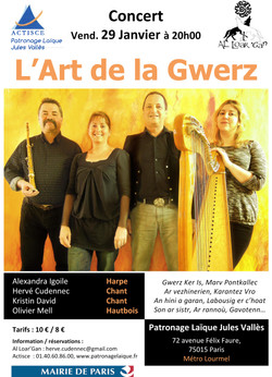 Concert 29 janvier_Affiche Al Loar 'Gan_Finale