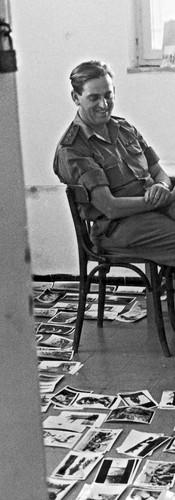 עם גרשון גרא ממיינים תמונות עבור אלבום מלחמה ששת הימים, 1968