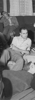 ערב שבת בבית דיין, 1953