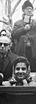 עם יצחק רבין, השגריר בוושינגטון במצעד העצמאות בניו יורק, 1972